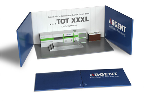 Pop-up nieuwe stansmachine Argent